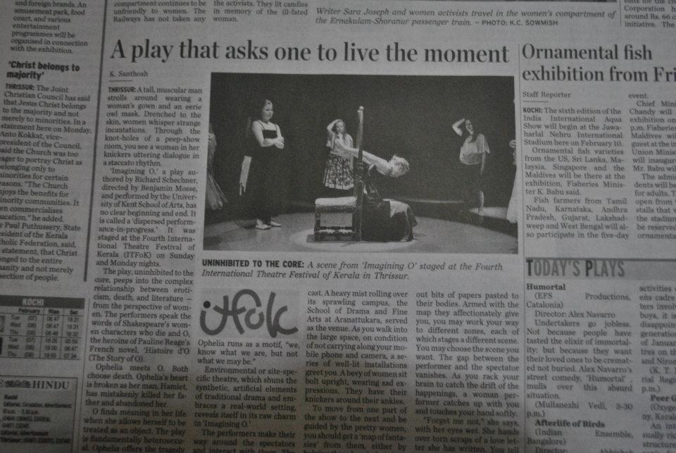 Imagining O 2012: Hindu Times Review